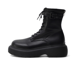 Over-Outsole Lace-Up Whole Heel Worker Boots 11060