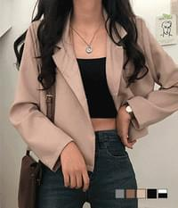 yeezy one-button cropped short jacket