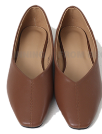 middle point stitch flat shoes