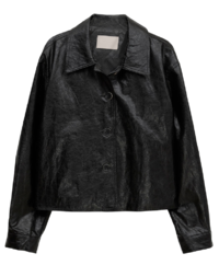Bolang glossy crack leather jacket