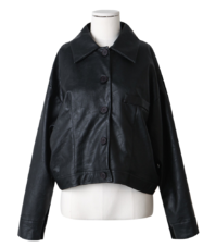 #made some and you button leather jacket