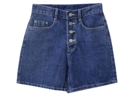 Together button jeans shorts
