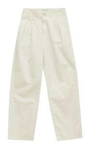 Deep Pleated Cotton Trousers