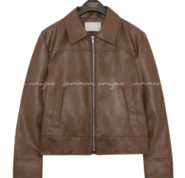 Zip-Up Faux Leather Jacket