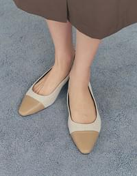 Rinnnight Stiletto Color Matching Flat Shoes