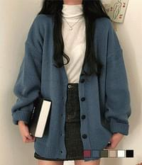 Loose-fit cardigan with good humming length