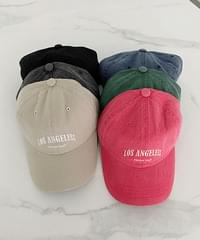 Vintage Lettering Embroidery Ball Cap - 6color