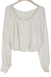 It is possible to direct it with a planned Carbo Frilly BL off-shoulder :D