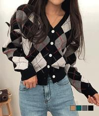 Picture Fluffy Argyle Knitwear