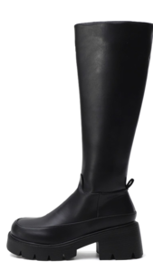 Crude Square Nose Walker Bottom Zipper Long Heel Boots 9149 ♡Second Sold Out♡
