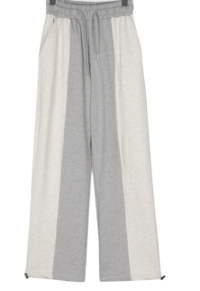 Drawben Two-Way Color Matching Wide Banding Pants