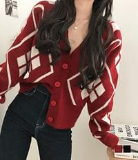 Dia thick cropped cardigan