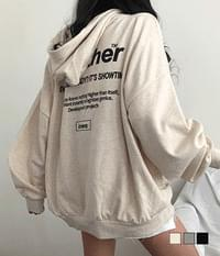 Another Wang Overfit Lettering Hooded Sweatshirt