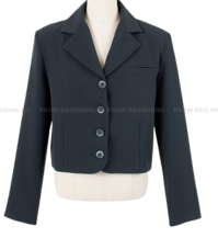 Andy button cropped jacket