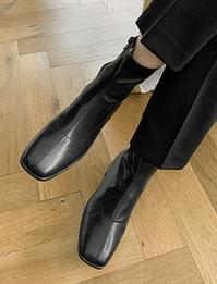 Formal Stitch Spandex Ankle Boots