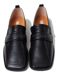 low square flat loafers