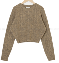 Mini Cable Round Crop Knitwear