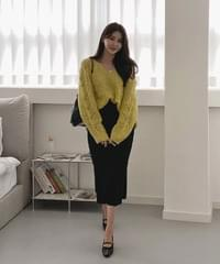 Yeopteuim Ribbed skirt - 6color