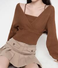 ESSAY Self-Tie Accent Knit Top