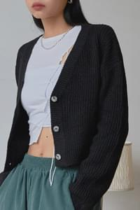 Session cropped cardigan