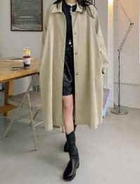Museum single button trench coat