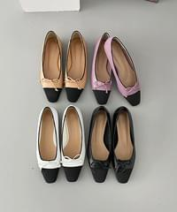 Color matching ribbon flat shoes - 4color