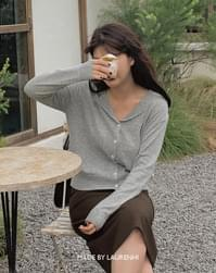 From Cashmere Open Collar Cardigan - 2 color