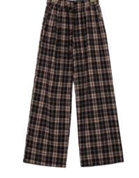 Check Clean Wide Pants