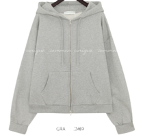 Drawstring Hood Zip Front Jacket WITH CELEBRITY _ HYE-RI, PARK BO YOUNG