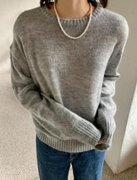 Candy Mohair Wool Round Knitwear