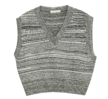 Part lambswool two-tone vest