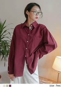 Chest Pocket Solid Tone Shirt