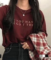 Youheb lettering long sleeve T-shirt