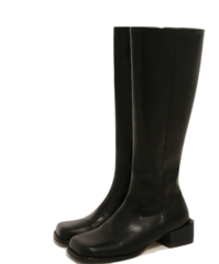 Leatherette Square Toe Tall Boots