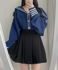 Boundy pleated pleated skirt 2color