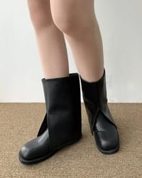 Warby Cut Warmer Leather Midi Boots