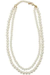 Enough twin pearl necklace