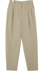 raw cotton trousers