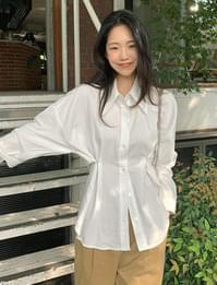 Two-way buttoned cotton shirt