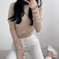 Cotton Candy Soft Round Short Sleeve Knitwear