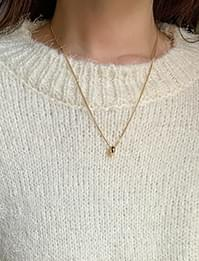 mini ring simple chain necklace