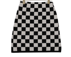 Checkers As Knitwear Skirt