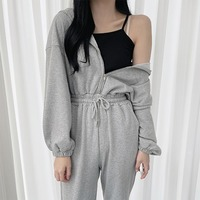 One Mile, Hooded Jogger Jumpsuit