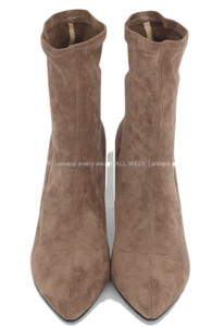 Eileen* Spandex Suede Ankle Boots