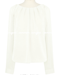 Tuck Accent Blouse