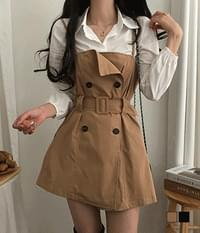 Barbie Trench Shirt Bustier Two-Piece Set