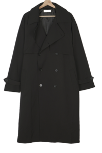 Big Size 55-99 Foren Daily Spandex Long Trench Coat
