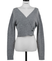 I'm in love with wool 80% two-way V-Neck wrap Knitwear long-sleeved cardigan