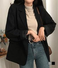 Right Shoulder Generating Loose Two-Button Jacket