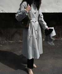 Chapter single collar trench coat